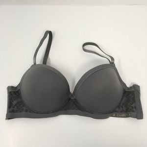 Vince Camuto Push Up T-Shirt Bra Gray Size 34B